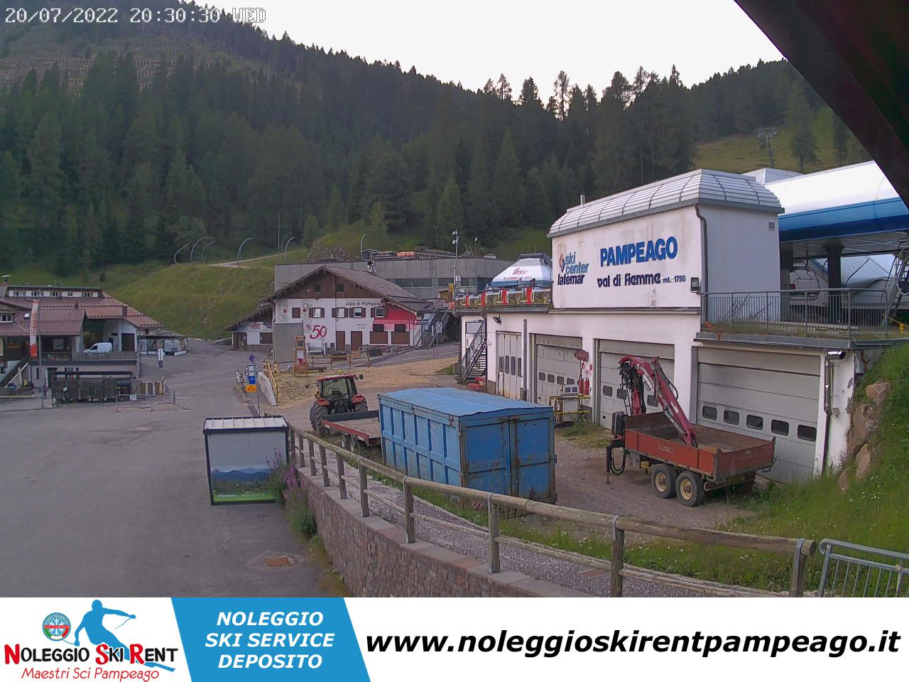 Webcam Alpe di Pampeago Noleggio Ski Rent